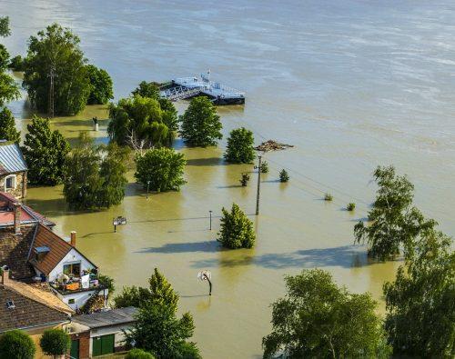 flood, danube, sandbag
